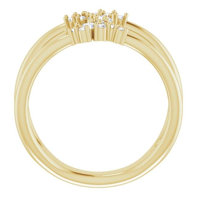 14K Yellow 3/8 CTW Lab-Grown Diamond Negative Space Ring