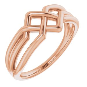 14K Rose Geometric Ring