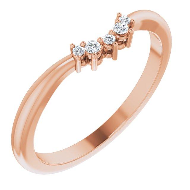 14K Rose .05 CTW Diamond Matching Band