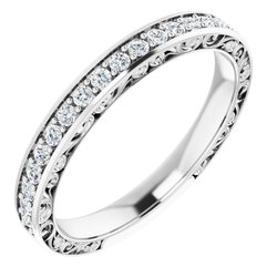 122460 / Neosadený / Sterling Silver / round / 1.5 Mm / Polished / Anniversary Band Mounting