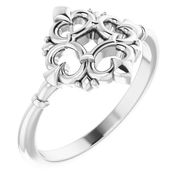 Sterling Silver Vintage-Inspired Ring