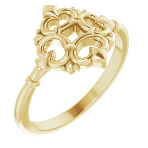 14K Yellow Vintage-Inspired Ring