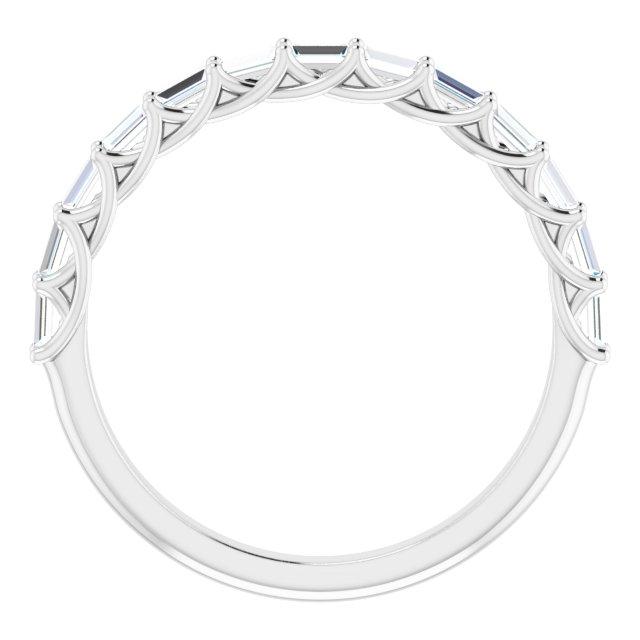 14K White 3/8 CTW Diamond Anniversary Band