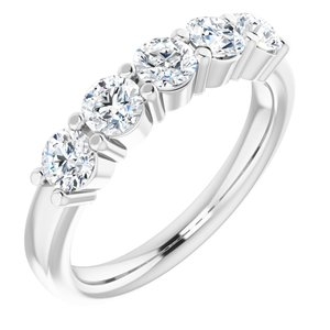 14K White 1/3 CTW Diamond Anniversary Band