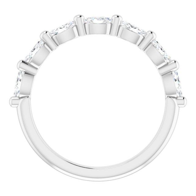 14K White 1/2 CTW Diamond Anniversary Band