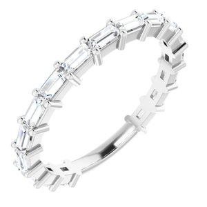 14K White 5/8 CTW Diamond Anniversary Band