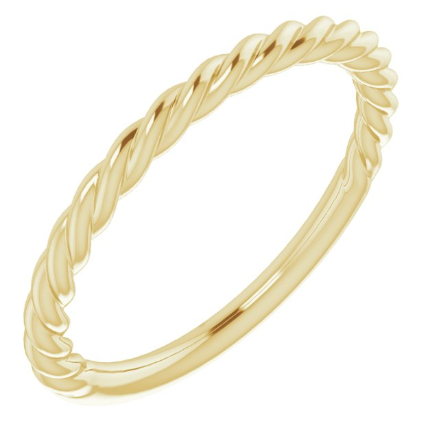 14K Yellow 1.5 mm Twisted Rope Band Size 5