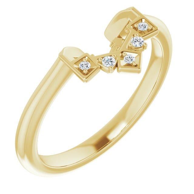 14K Yellow .03 CTW Diamond Matching Band