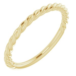 14K Yellow 1.5 mm Twisted Rope Band Size 6