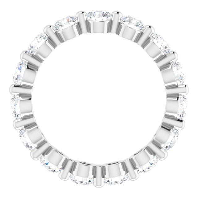 14K White 3 mm Round 1 3/4 CTW Diamond Eternity Band