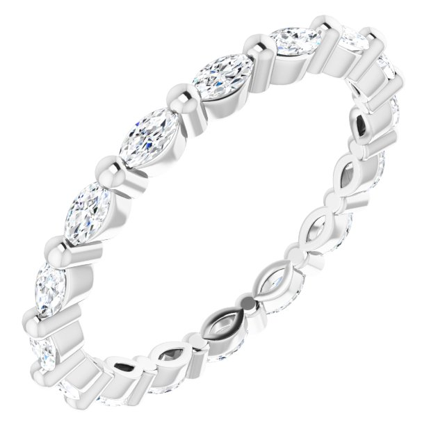 14K White 1/2 CTW Diamond Eternity Band