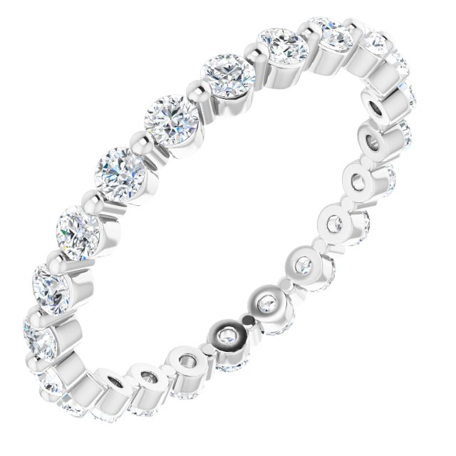 14K White 5/8 CTW Diamond Eternity Band