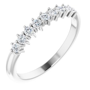 Platinum 1/4 CTW Diamond Nine-Stone Anniversary Band