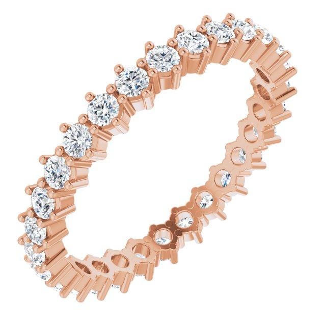 14K Rose 7/8 CTW Diamond Eternity Band Size 7