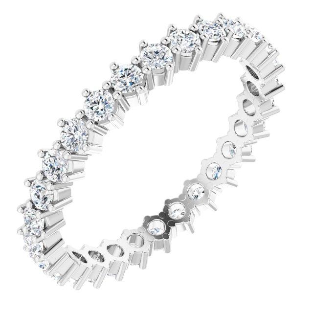Platinum 7/8 CTW Diamond Eternity Band Size 7