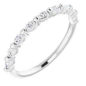 Platinum 1/4 CTW Diamond Anniversary Band