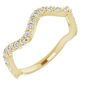 14K Yellow 1/3 CTW French-Set Diamond Anniversary Band