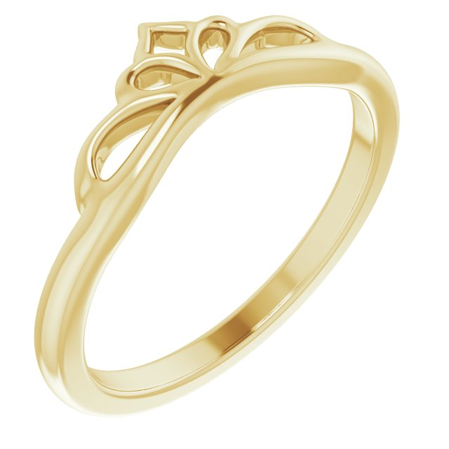 14K Yellow Stackable Crown Ring