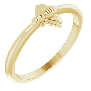 14K Yellow Stackable Bee Ring