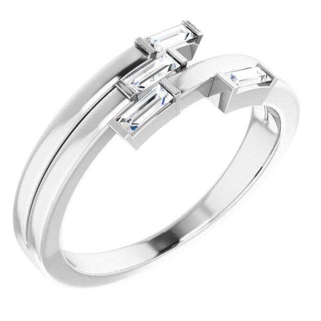 14K White 1/4 CTW Diamond Geometric Ring
