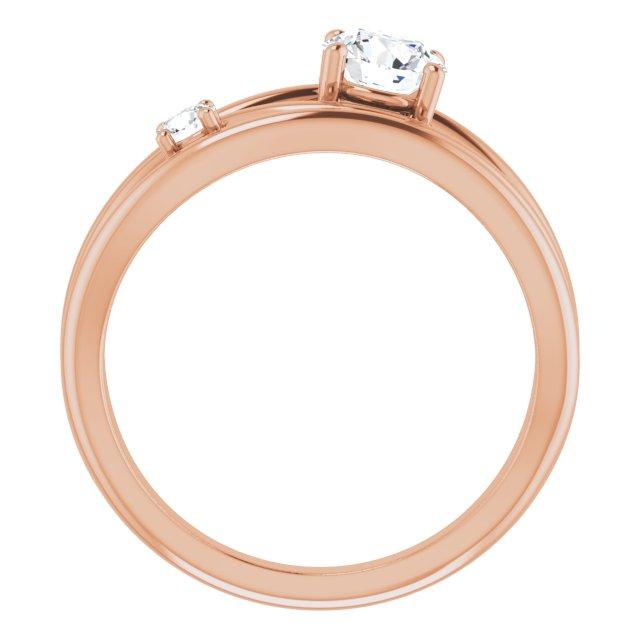 14K Rose 3/4 CTW Lab-Grown Diamond Ring