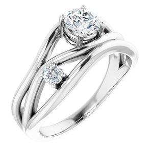 14K White 5/8 CTW Lab-Grown Diamond Ring