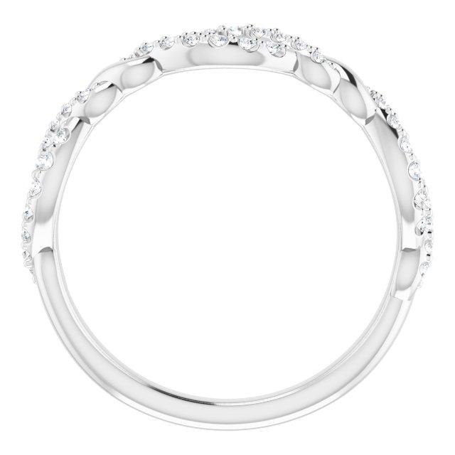 14K White 1/5 CTW Diamond Twisted Anniversary Band