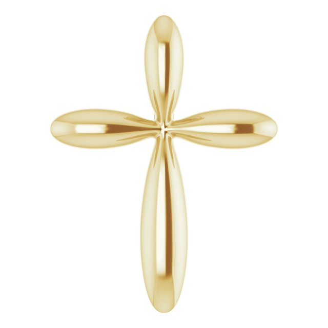 14K Yellow 14.65x11.2 mm Cross Pendant