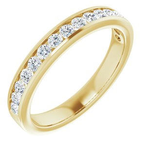14K Yellow 1/2 CTW Lab-Grown Diamond Anniversary Band