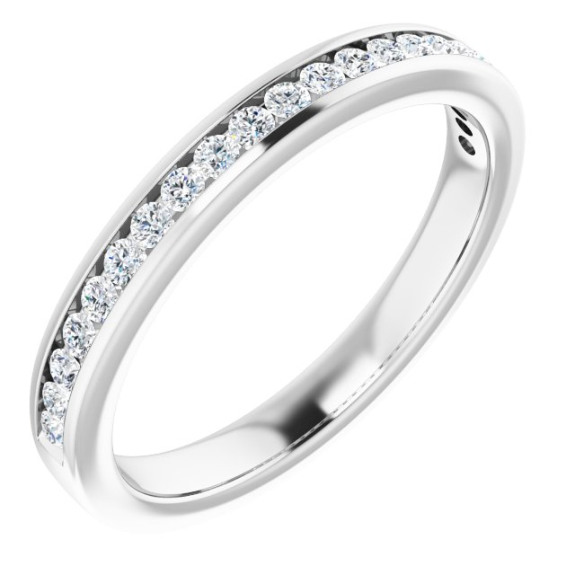 Platinum 1/2 CTW Diamond Anniversary Band