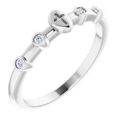 Stackable Cross Ring