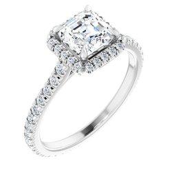 Halo-Style Eternity Engagement Ring