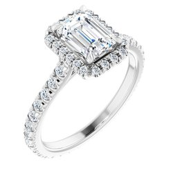 Halo-Style Eternity Engagement Ring