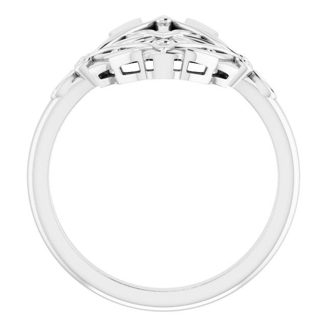 14K White Vintage-Inspired Ring