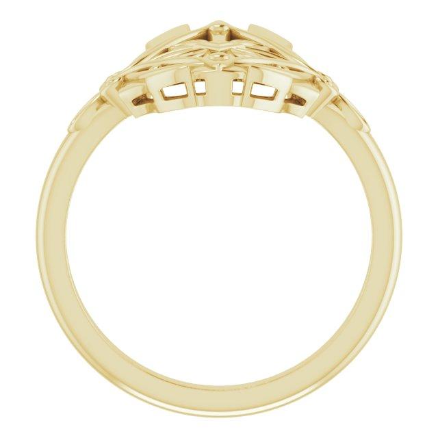 14K Yellow Vintage-Inspired Ring