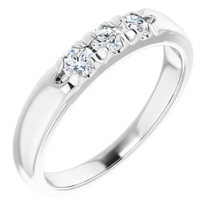 14K White 1/3 CTW Diamond French-Set Anniversary Band