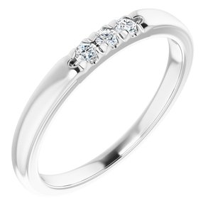 14K White .09 CTW Diamond French-Set Anniversary Band
