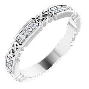 Platinum 1/6 CTW Diamond Celtic-Inspired Anniversary Band