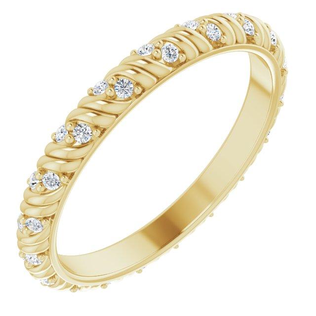 14K Yellow 1/6 CTW Diamond Eternity Band Size 7