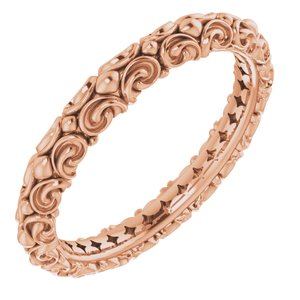 14K Rose Sculptural-Inspired Ring