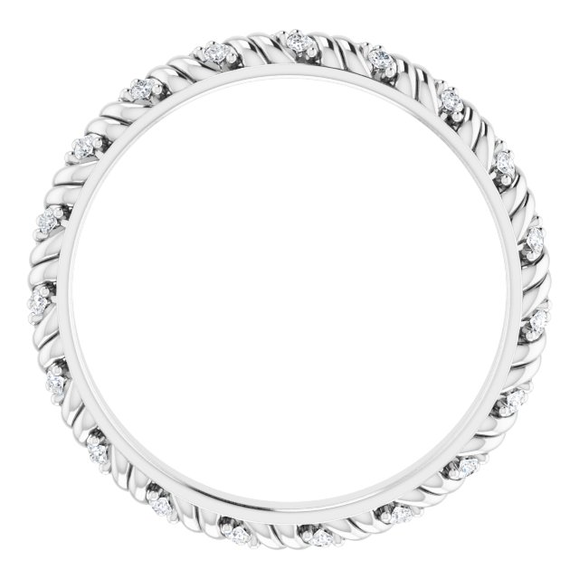 14K White 1/6 CTW Diamond Eternity Band Size 7