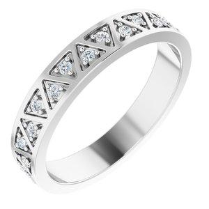 14K White 1/5 CTW Diamond Geometric Anniversary Band