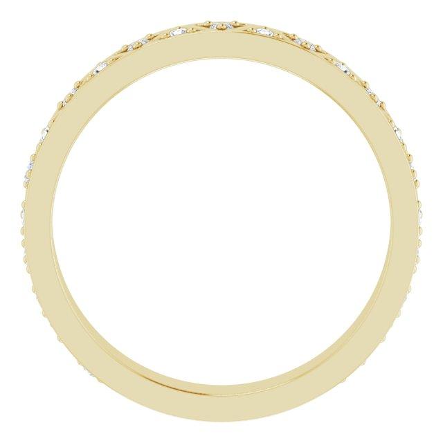 14K Yellow 1/5 CTW Diamond Geometric Anniversary Band