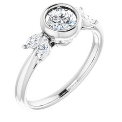 Bezel Set Engagement Ring or Band