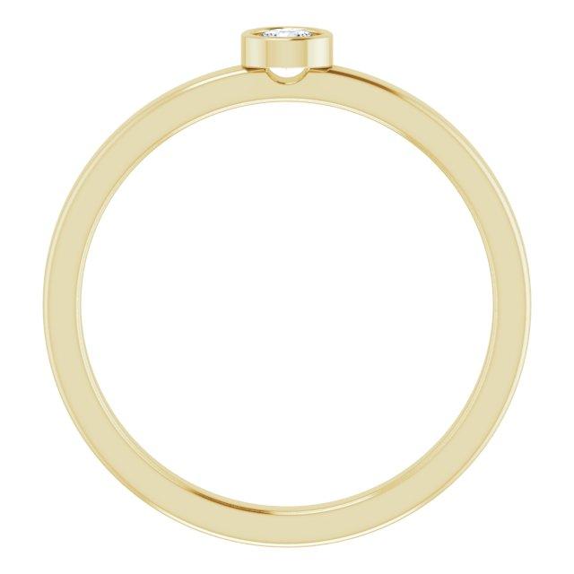 14K Yellow 1/10 CT Diamond Ring