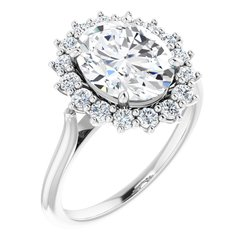 Halo-Styled Ring