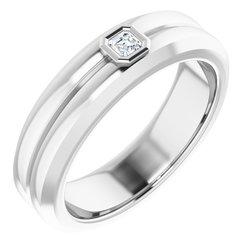 Men's Bezel-Set Ring
