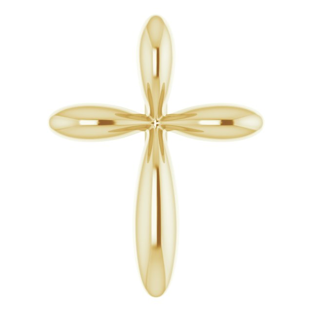 14K Yellow 10x7.72 mm Cross Pendant