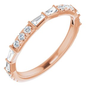14K Rose 3/8 CTW Diamond French-Set Anniversary Band