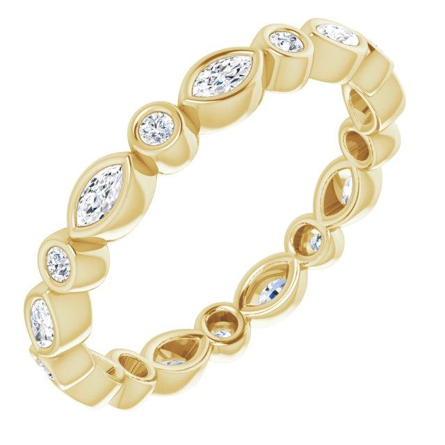 14K Yellow 1/3 CTW Diamond Eternity Band Size 5